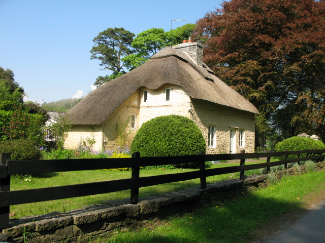 Thatched cottage on Merthyrmawr Road