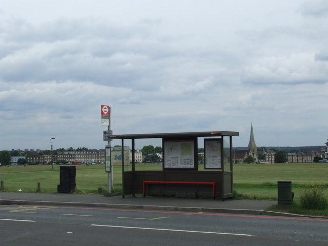 Bus stop on Blackheath