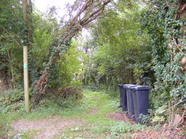 Footpath to Framsden Road, Jockey's Lane and the A1120