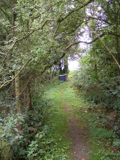 Footpath to Framsden Road,Jockey's Lane & the A1120