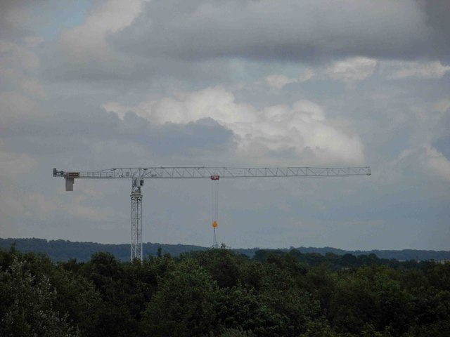 Only one tower crane now