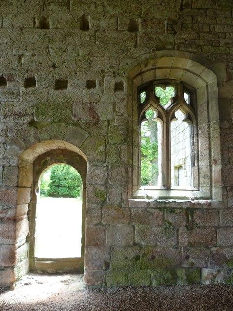 Dunglass Church doorway and window