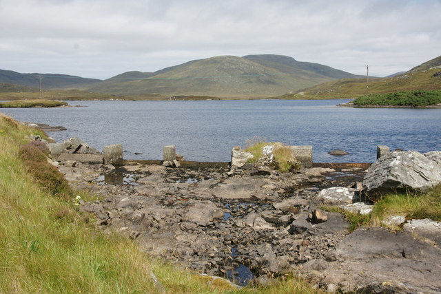 Outflow from Loch Steisebhat, An t-Ob (Leverburgh)