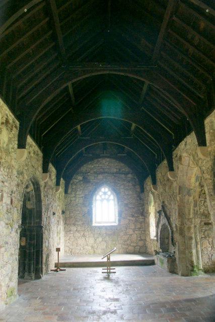 Inside St Clement's Church, Rodel (Tur Chliamainn, Roghadal)