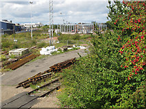 TQ2182 : Old Oak Common - Crossrail depot under construction by David Hawgood