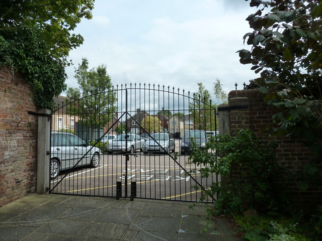 Looking from Horsham Museum into Denne Road Car Park