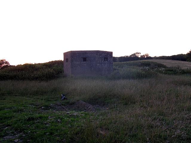 Pill box near Sauvey Castle Farm