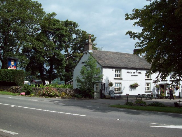 The Duke of York Pub and A515 Road