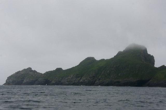 Dun from across Village Bay, St Kilda