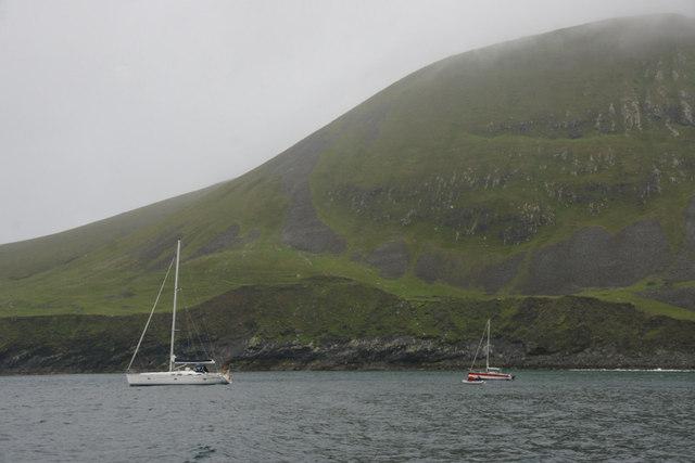 Yachts in Village Bay, St Kilda