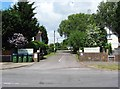 SZ9099 : Entrance to Copthorne Caravans Holiday Park, Hewarts Lane, Rose Green by P L Chadwick