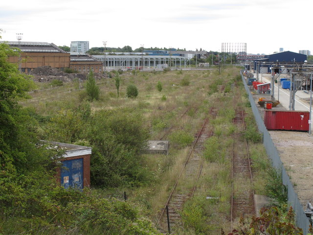 Old Oak Common - proposed line of HS2