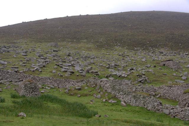 The rocky slopes of Oisebhal, St Kilda