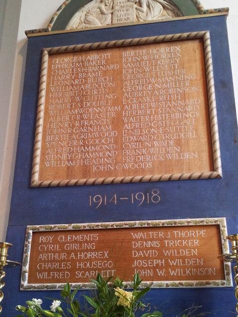 Stowupland War Memorial