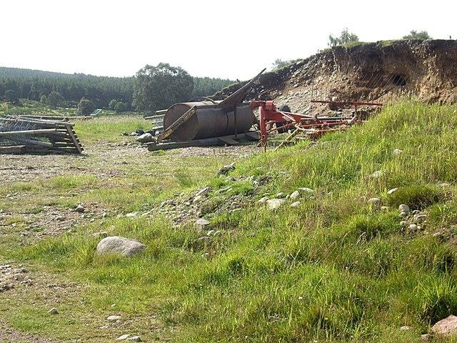 Farming machinery near Dalbreck