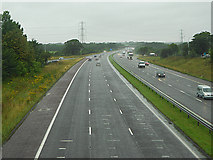 SD5052 : M6 Motorway, Forton by David Dixon