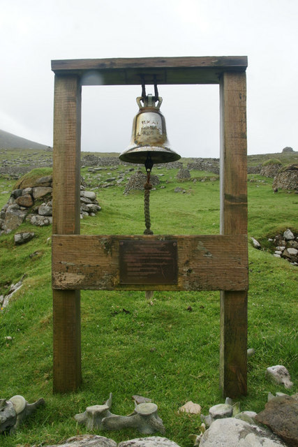 Bell on the street, Village Bay, St Kilda