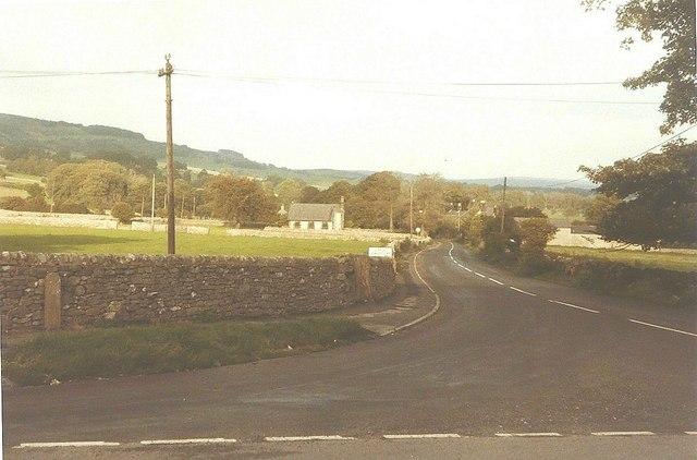 The road to Little Longstone in 1984
