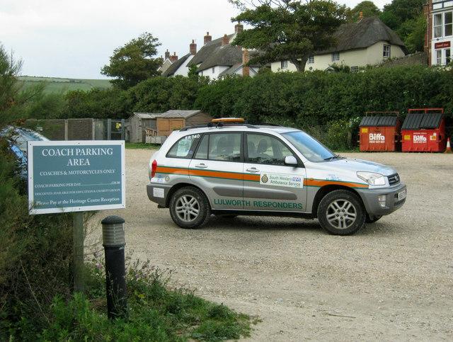 Lulworth Responders vehicle