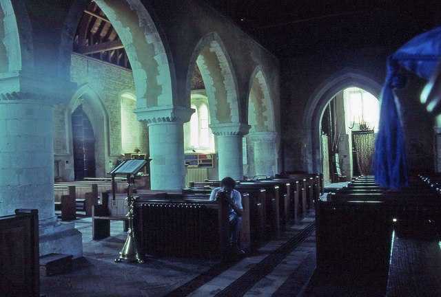Interior of St Mary's, Selborne