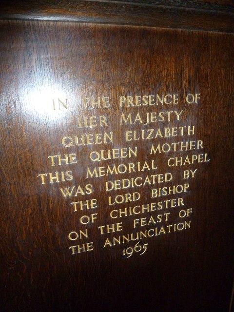 St Mary, Horsham- inscription