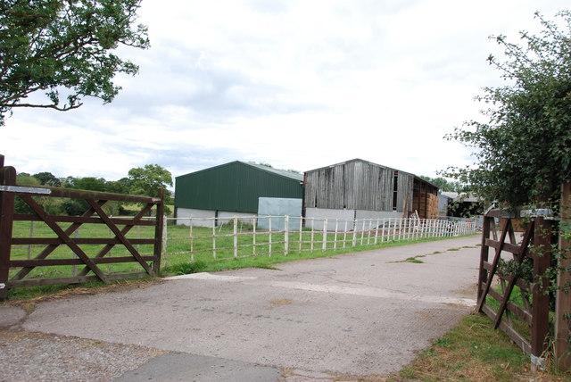 Entrance to Little Aston Farm