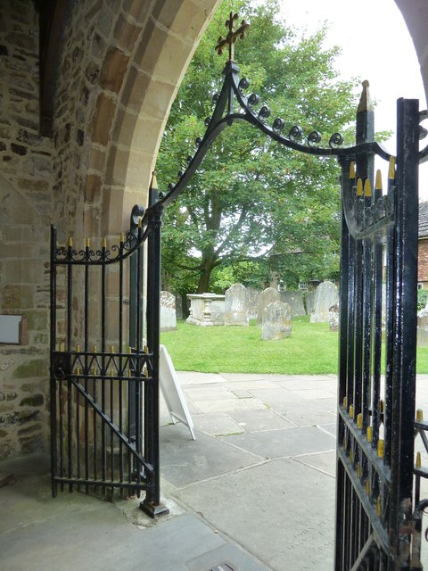 St Mary, Horsham- looking out of the porch