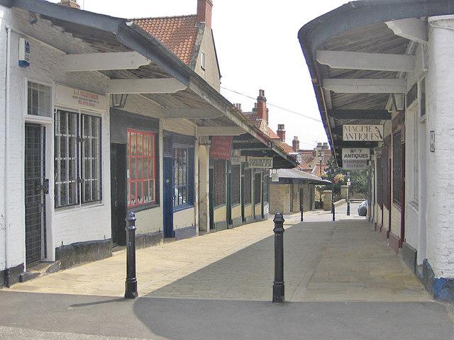A quiet time in The Shambles, Malton