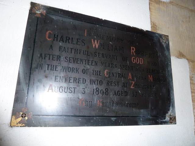 St Mary, Horsham- memorial to a missionary