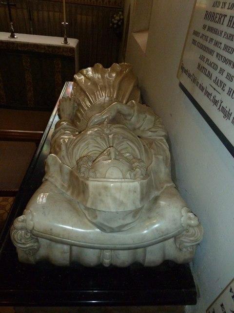 St Mary, Horsham- reclining figure