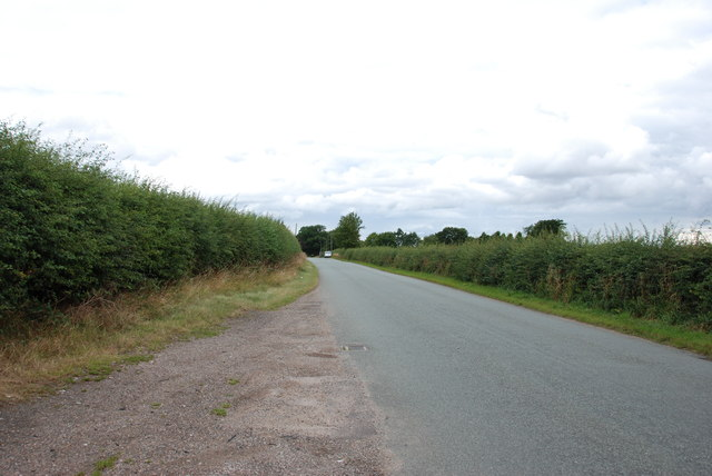 Looking up Seighford road towards Seighford