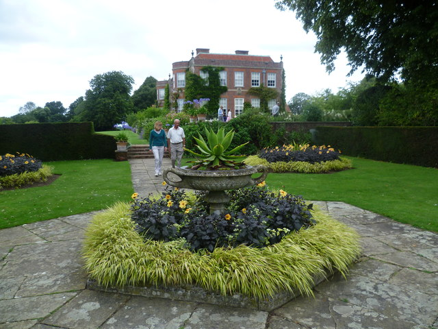 Hinton Ampner House from the Yew Garden