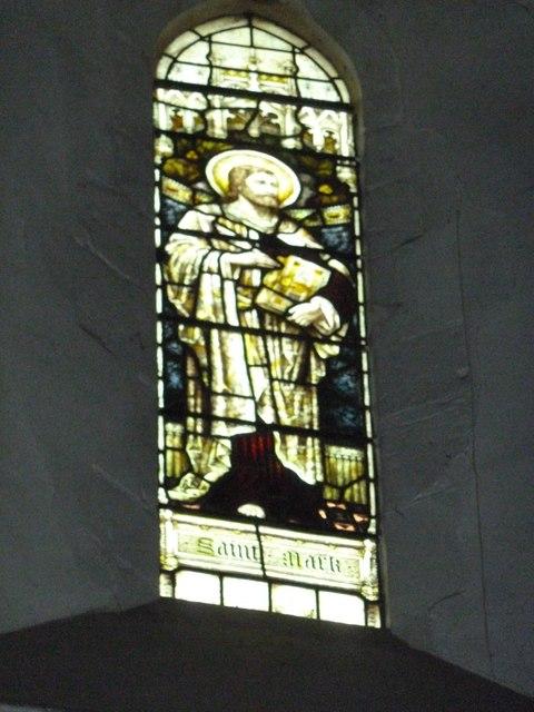St Mary Horsham, chancel clerestory window- St Mark