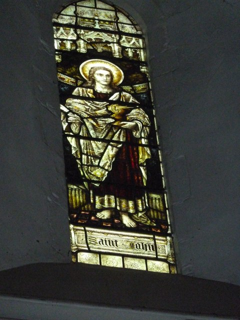 St Mary Horsham, chancel clerestory window- St John