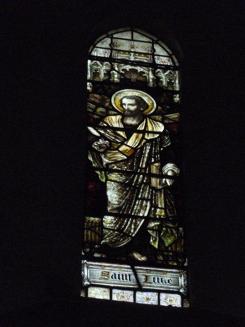 St Mary Horsham, chancel clerestory window- Luke