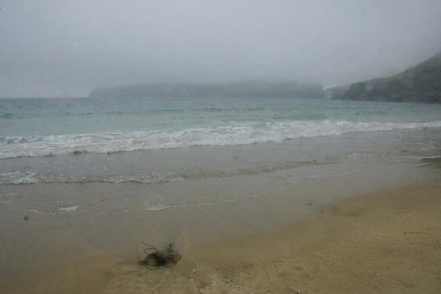 Sandy beach, Village Bay, St Kilda