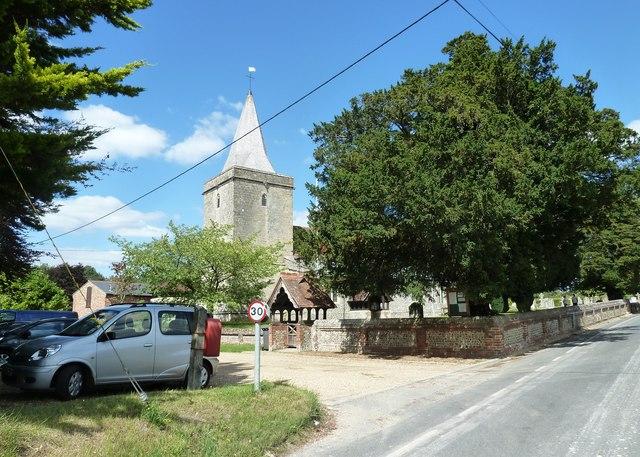 St Peter, Goodworth Clatford: August 2011