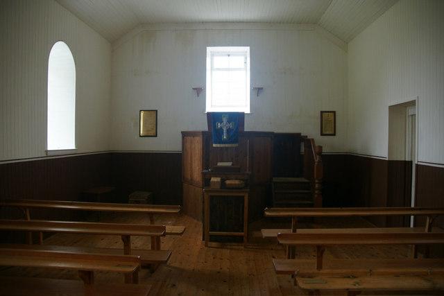 Inside the kirk on St Kilda