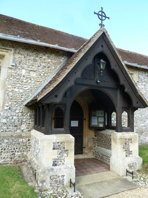 St Peter, Goodworth Clatford: church porch