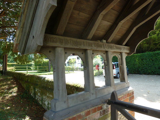 St Peter, Goodworth Clatford: lych gate