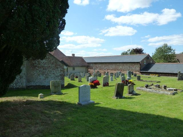 St Peter, Goodworth Clatford: churchyard (a)