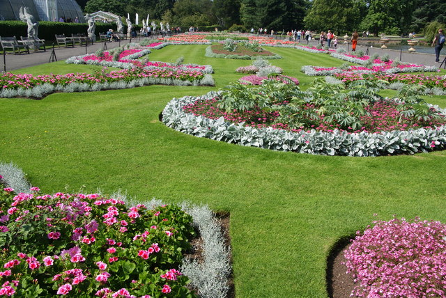 Flowerbeds by the Palm House, Kew Gardens