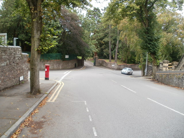 Lower end of Stow Park Avenue, Newport