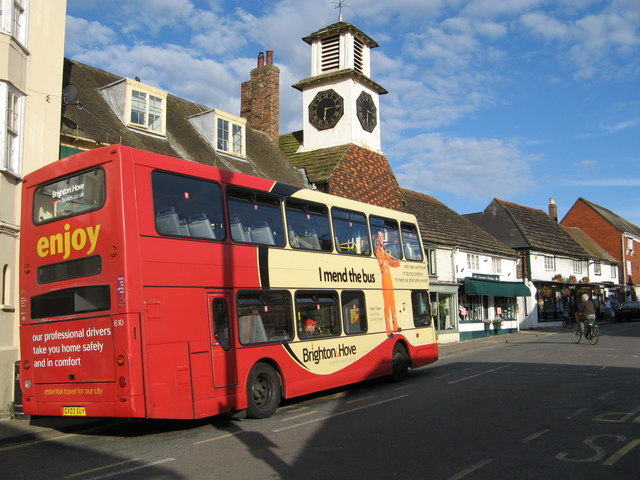 Brighton bus in Steyning High Street
