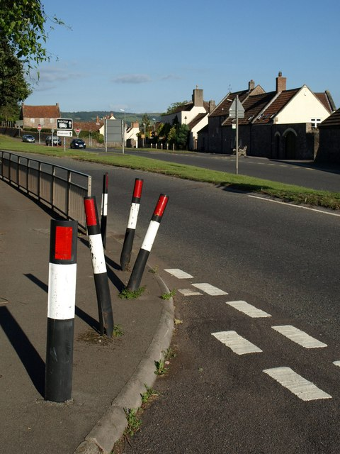 Wonky bollards, Axbridge