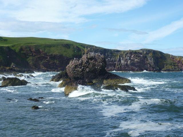 Choppy sea at St. Abbs