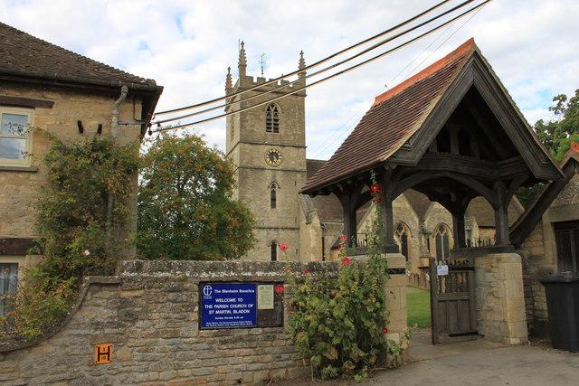 Lych gate at St Martin's church, Bladon