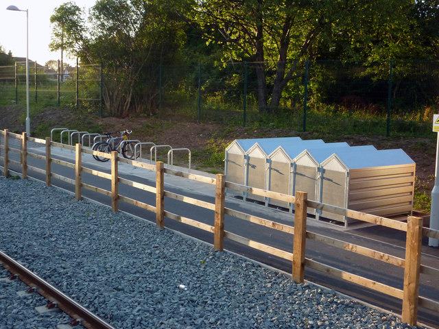 Cycle parking at St Werburgh's Road Metrolink stop, Chorlton