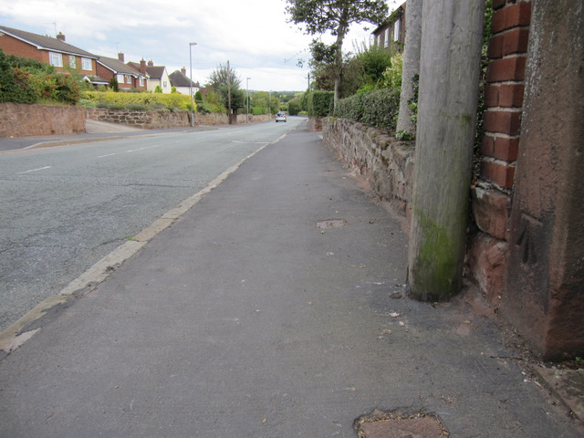 Barton Road, Farndon, and a bench mark