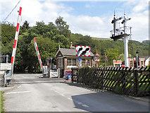 SE8191 : North Yorkshire Moors Railway, Level crossing at Levisham by David Dixon